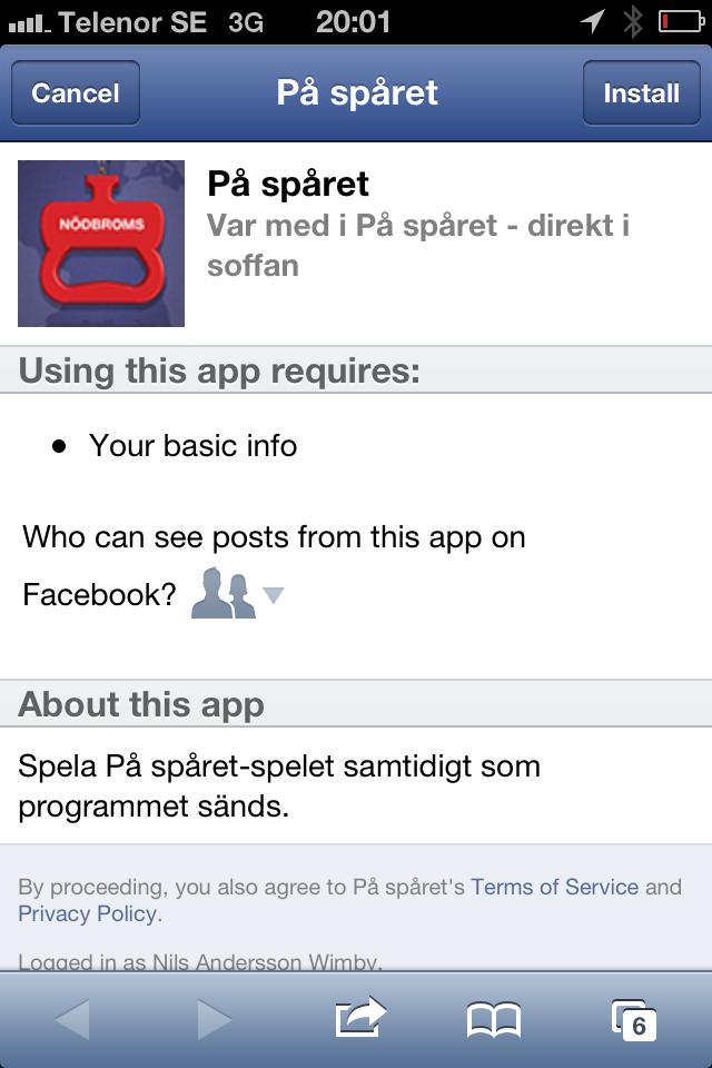 På Spåret mobilsajt SVT