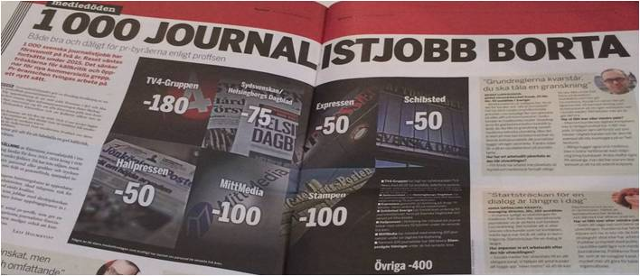 100 tjänster bort journalistik