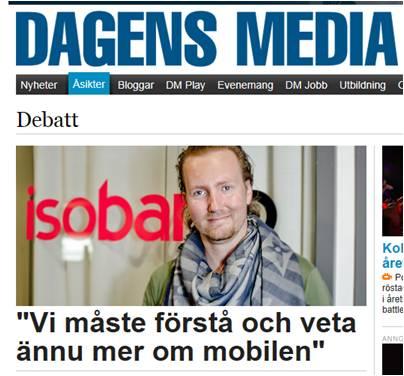 Om insikter, mätningar och det mobila i Dagens media