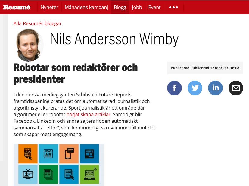 Min blogg på Resume.se